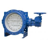 Wholesale PN10 Cast Iron Eccentric Butterfly Valve , Double Offset Soft Seal Butterfly Valve from china suppliers