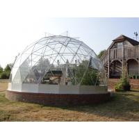 Wholesale 100 % Waterproof Outdoor Geodesic Dome Greenhouse 100-130 Km/H from china suppliers