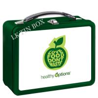 Wholesale Food Storage Apple Printed Lunch Tin Box With Plastic Handle / Metal Lock from china suppliers