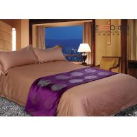 Wholesale Hotel Grade Bed Linen Brown , Hotel Collection Linen Easy Maintenance from china suppliers