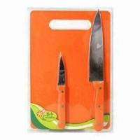 Buy cheap 2pcs Knife Set with Plastic Cutting Board from wholesalers