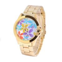 Quality CE / RoHS Japan Movt Flower Pattern Women Wristwatches Analog Time Display for sale