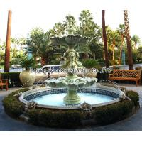Wholesale Garden stone fountain with pool from china suppliers