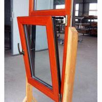 Wholesale Wood Aluminum Window with Tilt/Turn Styles, Energy Efficient, Perfect Performance, Cladding Outside from china suppliers