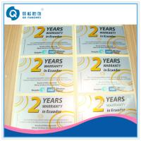 Wholesale Die Cut Glossy Lamination Silver PET Label , Glossy Silver Self Adhesive Plastic Labels In Sheet from china suppliers