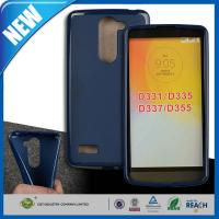 Wholesale Blue Transparent Plastic TPU Gel Cell Phone Protective Cases For LG L Bello D331 / D335 from china suppliers