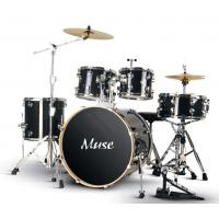 Wholesale Classic Black Standard 5 Piece Acoustic Drum Set / Percussion Kit With Cymbals from china suppliers