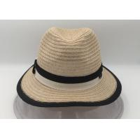 Wholesale Panama Straw Hat,Wide Brim Foldable Fedora Beach Sun Hat for Women from china suppliers