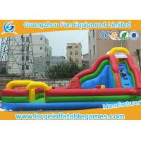Wholesale Kids Funland Inflatable Amusement Park With Slide And Climbing Wall To Bounce On from china suppliers