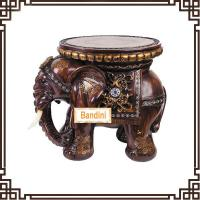 Quality Wholesale Resin elephant stool figurine home decoration novelty house crafts A0545M for sale