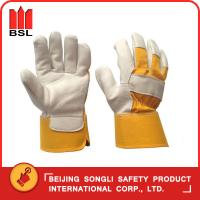 Wholesale SLG-SMT-68 goat grain leather working safety gloves from china suppliers