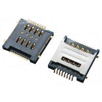 Wholesale Double SIM Card Connector SMT 8Pins , Micro Sim Socket With Shielded Black Plastic from china suppliers