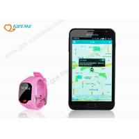 Quality Hand Free Silicone GPS Wrist Watch , GPS / AGPS / LBS Tracking Devices For Children for sale