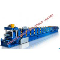 Buy cheap Hydraulic Post Cutting Metal Roofing Water Gutter Roll Forming Machine 8-12m/min from wholesalers