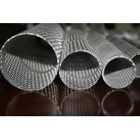 Wholesale 304,316 Round Perforated Metal Pipe , pouch Stainless Steel Pipes 2mm Thick from china suppliers