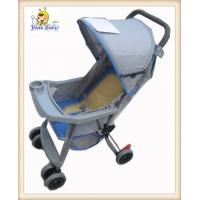 Buy cheap One Hand Foldable Gray Baby Buggy Strollers With Storage Basket from wholesalers