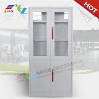 Quality metal storage cupboard FYD-W012:H1850XW900XD400mm, KD,glass and steel swing door for sale