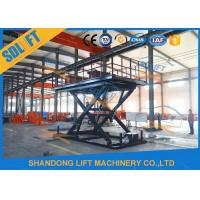 Wholesale Blue Color Hydraulic Scissor Car Lift , Garage Car Elevator For Basement from china suppliers