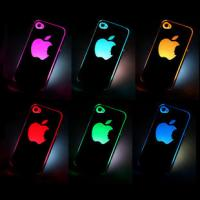 Wholesale NEW Sense Flash light LED LCD Color Changed Case Cover for Apple iPhone4S/4G-Black from china suppliers