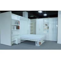 Wholesale White Double Folding Wall Bed with Bookshelf ,E1 Grade Material with Paint from china suppliers