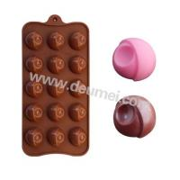 Wholesale Good Quality 15 Holes Silicone Sphere Eye Design Chocolate Mold Candy Mold from china suppliers