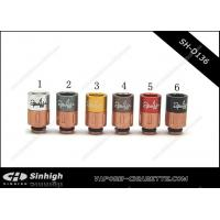 Wholesale 2 Puffs DripTips 510 Drip Tips Copper And Derlin / Multiple Colors 2 Puffs Cap from china suppliers