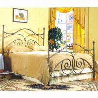 Buy cheap Wrought iron bed with powder coating from wholesalers