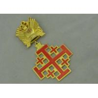 Wholesale 3D Gold Custom Medal Awards , Zinc Alloy Synthetic Enamel Medal from china suppliers