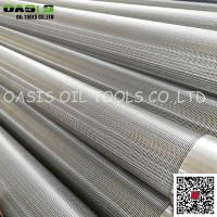 Buy cheap OASIS Manufacturer stainless steel continuous slot johnson screens from wholesalers