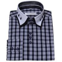 Buy cheap Men's double collar shirt » Mens Contrast Double Collar Dress Shirt from wholesalers