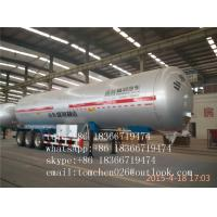 Wholesale Butane / Propane / Fuel Tanker Semi Trailer , 3 Axles LPG / Oil Tank Truck from china suppliers