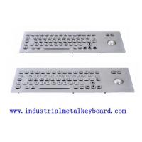 Wholesale Rear Mounted Industrial Keyboard With Trackball For Public , 5V DC , 10mA from china suppliers