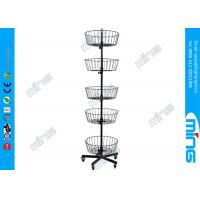 Wholesale Ajustable 5 Layers Metal Wire Display Stands 5 Levels Black Wire Basket from china suppliers