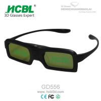 Wholesale DLP Link Universal Active Shutter 3D Glasses With Rechargable Battery / Logo Print from china suppliers