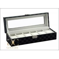 Quality Tempering Glass Cover Leather Watch Storage Box For Louis Vuitton Damier Graphite for sale