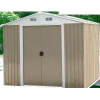 Wholesale Prefab Outdoor Metal Storage Shed / Steel Garden Sheds , 0.6mm Zinc Steel Frame from china suppliers