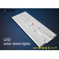 Wholesale PIR Motion Sensor Control Led Light Integrated Solar Street Light With High Brightness Bridgelux LED Chips from china suppliers