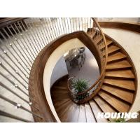 Wholesale Commercial Building Curved Staircase , Modern Stainless Steel from china suppliers