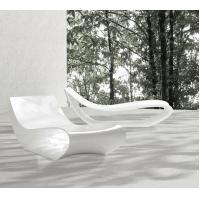Wholesale Fiberglasses made white color outdoor lounge chair for resort holiday from china suppliers