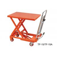 Wholesale Portable Hydraulic Scissor Lift Table Trolley , Heavy Duty Lift Table TF15 TF15A from china suppliers