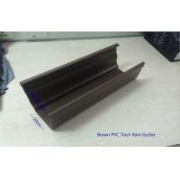 Wholesale Brown PVC Rainwater Gutters , Single Wall Rain Drainage System from china suppliers
