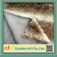 Wholesale Artificial Long Pile Faux Fur Fabric Auto Seat Cover Fabric , Automotive Upholstery Cloth from china suppliers
