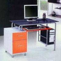 Wholesale Computer Desk with 8mm Tempered Glass, Flakeboard and Iron Pipe, Measures 1,000 x 500 x 950mm from china suppliers