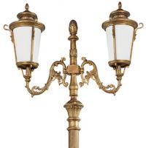 Wholesale outdoor aluminum antique garden pole light decorative LED street light lamp /Landscape Light Pole CE glass iron from china suppliers