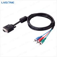 Wholesale Linsone audio/video VGA to 3RCA cable with metal pulg from china suppliers