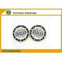 Wholesale Classical Metal poker chips White Background Golden In Back Side from china suppliers
