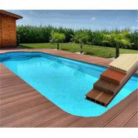 Wholesale 60% PVC Powder and 30% Wood Powder WPC Composite Decking Swimming Pool Flooring from china suppliers