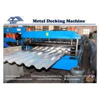 Wholesale 0.8-1.6mm Thickness PPGI Sheet Floor Deck Roll Forming Machine 22KW Main Power from china suppliers