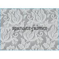 Wholesale Jacquard Power Mesh Fabric / Spandex Flower Designs Nylon Lace Fabric from china suppliers