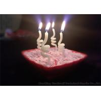 Wholesale Noctilucence Swirl Shaped Birthday Candles Art Wax Twisted Birthday Candles from china suppliers